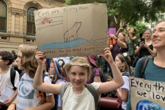 Ember Henninger, 9, in Sydney.