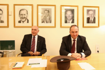 Then deputy prime minister and Nationals leader Warren Truss, with his deputy leader Barnaby Joyce, in 2016.