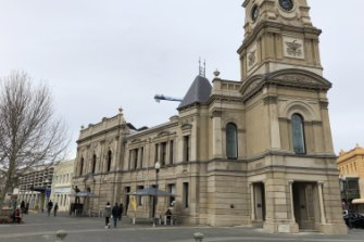 Fremantle Town Hall on Sunday.