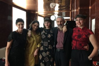 Deborah Conway with her husband Willy Zygier, and daughters Alma, Hettie and Syd Zygier.