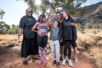 Helen Gillen (left) with family members Arihanna, Vita, Leanna and Shania.