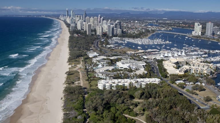 The Sheraton Mirage Resort on the Gold Coast. Almost $100 million from the 2016 sale of the hotel was frozen by the Federal Court.