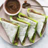 Helen Goh's pandan napkin cakes with coconut custard