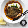 Neil Perry's John Dory with tomato and cardamom sauce