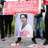 Myanmar's ousted leader Aung San Suu Kyi 'seemed not very well' as trial begins