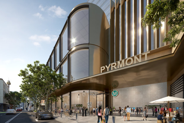 An artist impression of the new Metro station at Pyrmont
