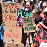 Students front WA Parliament to make noise on climate change