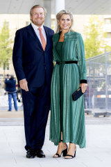 Tall royals: King Willem-Alexander, 183cm, and Queen Maxima, 178cm, of The Netherlands earlier this month.