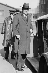 Prime Minister Joseph Lyons prepares to return to Canberra on August 12, 1935.