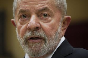 Former Brazilian president Luis Inacio Lula da Silva arrives for a meeting with the Italian Cgil union in Rome last year.