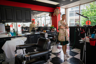 Daku Nishiyama, barbershop owner at Dojo Tokyo.