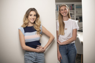 The COVID-19 crisis has upended the lives of young people such as Felicity Light (left) and Madi Robins.
