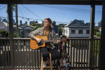 Queenslander Tom Spottiswood returned to his home state after Melbourne's lockdowns ruined his work opportunities as a musician.