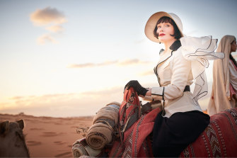 Phyrne Fisher (Essie Davis) doesn't quite go undercover in Morrocco in Miss Fisher and the Crypt of Tears.