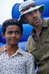 Buoyancy director Rodd Rathjen with his young star Sarm Heng.