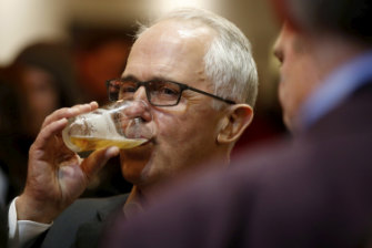 Malcom Turnbull at the Seaford Hotel on Tuesday night.