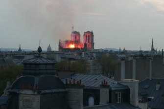 Heritage architect Pierre Gommier saw the Notre-Dame Cathedral in Paris burn from his apartment.
