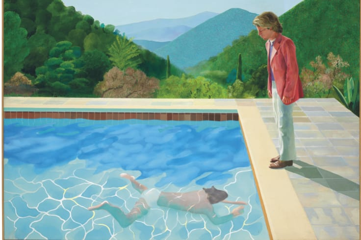 The painting, considered one of Hockney's premier works, was sold at auction by Christie's in New York for $US90.3 million ($123.7 million).
