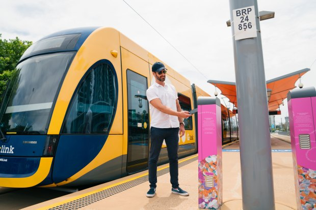 Touching on with a smartphone, smart watch, credit or savings card begins on the Gold Coast's light rail network from December 14.