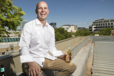 Nick Parkinson hopes to open a rooftop bar at 50 Bunda Street by the time next summer rolls around.