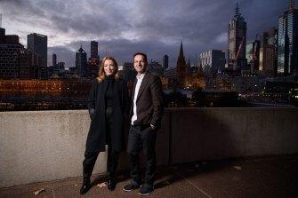 RISING co-artistic directors Hannah Fox and Gideon Obarzanek.