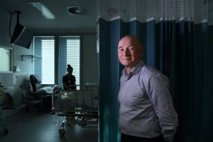 Queen's Birthday Honours recipient Professor Simon Finfer at Sydney Adventist Hospital's intensive care unit.