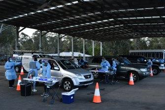 COVID-19 testing at Fairfield, Sydney.