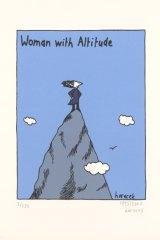 Judy Horacek, <i>Woman with Altitude</i>, 2002.