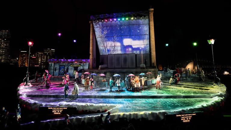 Opera Australia's production of La Boheme on Sydney Harbour.