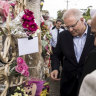 Prime Minister Scott Morrison visits the Lakemba Mosque on Saturday.