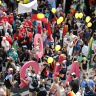Thousands flood inner city for Brisbane Pride march