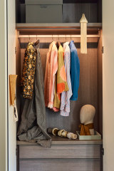 Morton's custom wardrobing from Poliform gives order to potential chaos.
