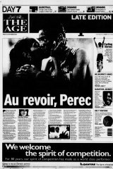 The Age's coverage of Perec's departure during the Sydney Olympics
