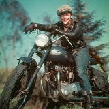 Marlon Brando captured the glamour of motorcycles in <i>The Wild One</i>.