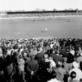 First bounce: Carlton v Fitzroy, 1966, with the trial rectangle on Princes Park.
