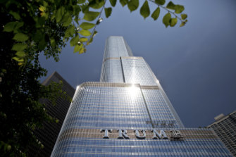A Chicago skyscraper was the focus of a court battle between Trump and Deutsche Bank that equated the 2008 financial crisis with an act of God.