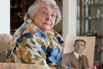 June Fowler-Smith whose uncle, Sidney Webber,  was shot by a Japanese soldier.