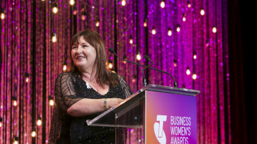 Jenny Franceschi took out one of the 2017 Telstra Women in Business awards.