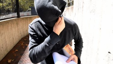 Brody Jack Clarke leaves a Sydney court, charged with eight counts of dishonestly obtaining financial advantage by deception.