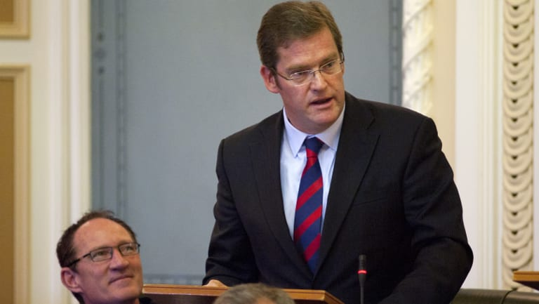 John McVeigh, pictured in Queensland State Parliament, has been promoted to federal cabinet.