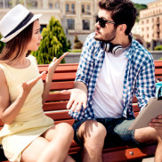 Young married couple got lost on vacation in town. Frustrated lady is arguing with her boyfriend, who holds pda, has no idea where they are iStock image for Traveller. Re-use permitted. Couple arguing tourists