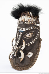A Malagan mask from the Australian Museum's Pacific Spirit Gallery.