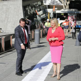 The Labor council leadership team with their list of footpath fixes.