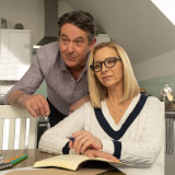 Mae's parents: Linda (Lisa Kudrow) and Malcolm (Adrian Lukis).