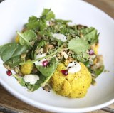 Roasted Cauliflower with Spinach and Lentil Salad from the Art Gallery of NSW cafe.
