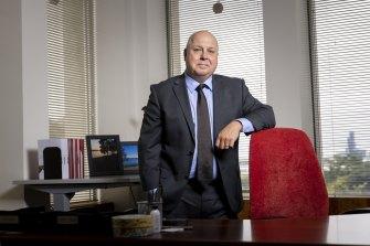 Treasurer Tim Pallas in his office last month.