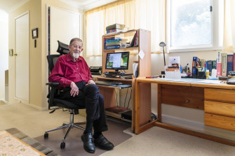 Donald Harrison puts his crosswords together from his home on the NSW south coast, using a variety of tools and his signature sense of humour.