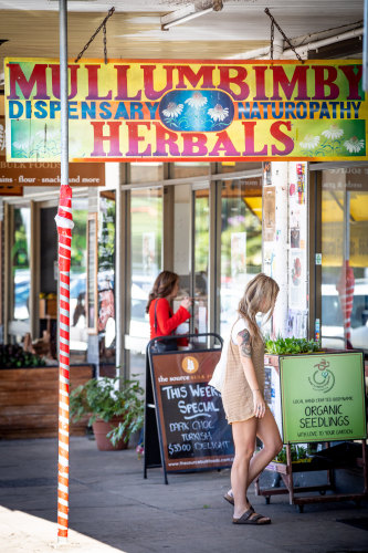 Mullumbimby's focus on alternative lifestyles and wellness draws tourists as well as tree-changing city-dwellers.