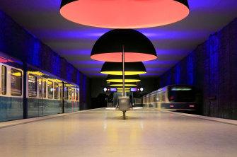 Westfriedhof, a U-Bahn station in Munich.