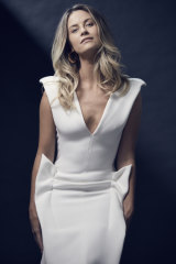 Christie wears Maticevski dress, Holly Ryan earrings.
